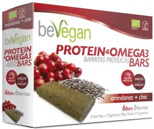 Bevegan Barritas Bio Arandano y Chia Protein Antioxidante