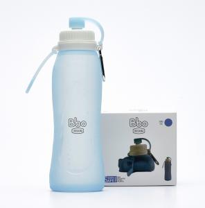 Botella Bbo Silicona 500ml Azul Irisana