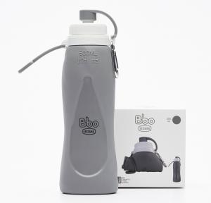 Botella Bbo Silicona 500ml Gris Irisana