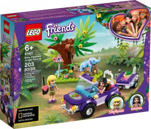 LEGO FRIENDS SALVATAGGIO NELLA GIUNGLA DELL'ELEFANTINO 41421