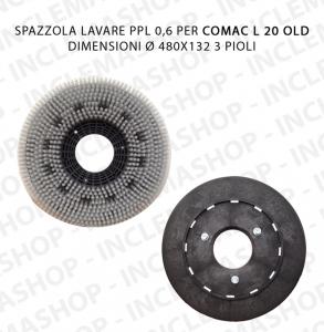 SPAZZOLA LAVARE PPL 0,6 Dimensioni ø 245 x 55 valida für Scheuersaugmaschinen COMAC L 20 OLD