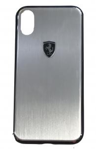 Ferrari Silver iPhone X hard Case