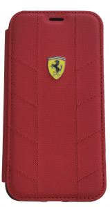Ferrari Red Booktype Folio iPhone X