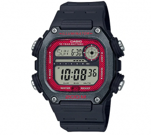 Casio Collection multifunzione, nero,  grigio e bordeaux
