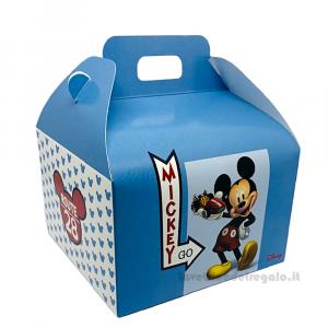 Valigetta porta-dolci Mickey Go Route 28 Azzurro Disney 16x14x10 cm - Scatole battesimo bimbo