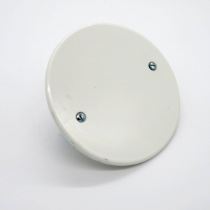 Coperchio scatola tonda cm7,5 bianco