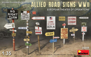 ALLIED ROAD SIGNS WWII. EUROPEAN THEATRE OF OPERATIONS