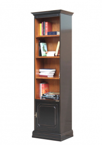 Two tone space saving bookcase in wood