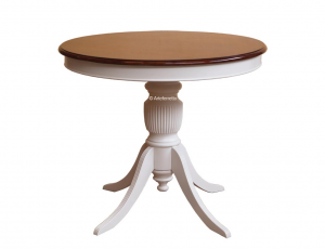 Two tone dining table diameter 90 cm