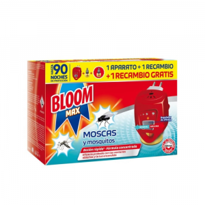 Bloom Max Flies  & Mosquitoes 1 Electric Device + 2 Refill