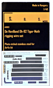 DH-82 Tiger Moth rigging wire PE set
