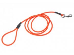 Guinzaglio Biothane arrotondato 8mm, 1,2 m con maniglia orange, Firedog