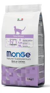 MONGE NATURAL SUPERPREMIUM GATTO STERILISED POLLO