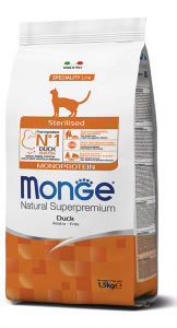 MONGE NATURAL SUPERPREMIUM GATTO STERILISED ANATRA