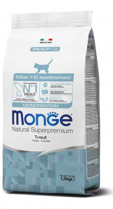 MONGE NATURAL SUPERPREMIUM GATTO KITTEN TROTA
