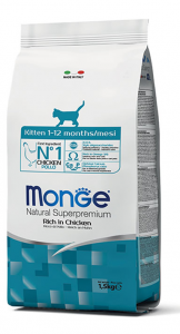 MONGE NATURAL SUPERPREMIUM GATTO KITTEN POLLO
