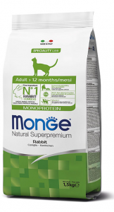 MONGE NATURAL SUPERPREMIUM GATTO ADULT CONIGLIO