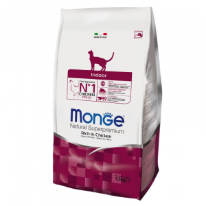 MONGE NATURAL SUPERPREMIUM GATTO INDOOR POLLO
