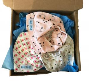 Tris rosa di bavette baby
