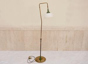 Lampada da terra ottone e vetro