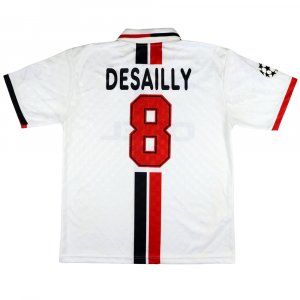 1996-97 ac milan maglia match issue #8 desailly champions xl (top)