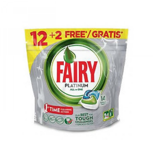 Fairy Platinum Original Dishwasher Capsules 14 Units
