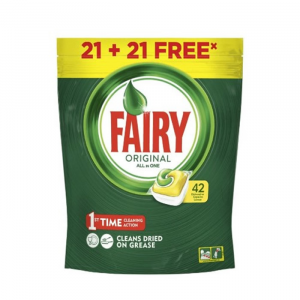 Fairy Original AllIn1 Dishwasher Capsules Lemon 24 Units