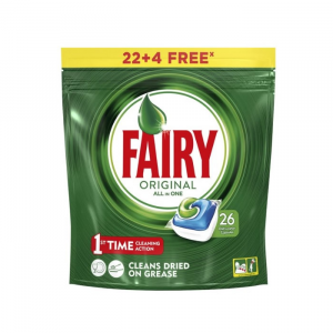 Fairy Original AllIn1 Dishwasher Capsules 26 Units