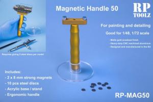 Magnetic handle with acrylic basement