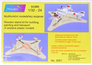 Wooden stand for airplanes building/transport