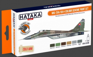 MiG-29A/UB 4-colour scheme paint set