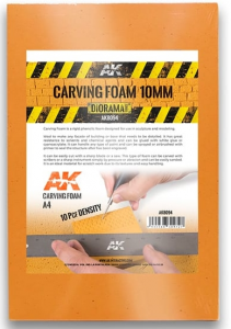 CARVING FOAM 10MM A4 SIZE