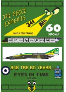 348 sq TRS 60 YEARS is the origin McDonnell RF-4E Phantom II
