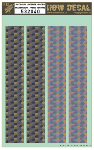 5 Colour Lozenge Upper & Lower
