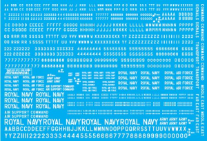 RAF White Serial Letters and Numbers 4