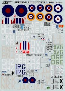 Spitfire Mk.I, Mk.II, Mk.Vb, Mk.VII, Mk.IX, Mk.XVI