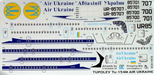 TU-154M AIR UKRAINE (2 VERSIONS)
