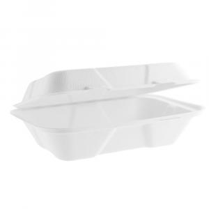 Contenitore asporto con coperchio biodegradabile - 1000ml - 23x15x7,5cm