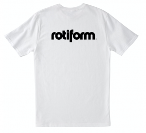 T-Shirt ROTIFORM LOGO for man - Bianca e Nera