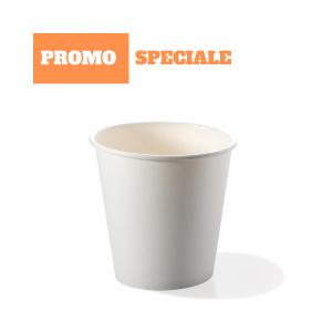 PROMO! - Bicchieri bio cartoncino 120 ml caffè espresso bianchi