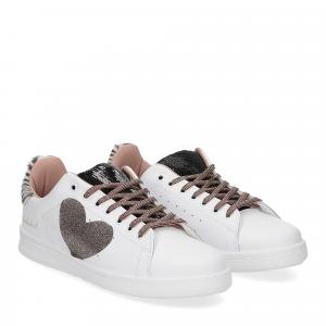 Nira Rubens Daiquiri DACU207 sneaker cuore black white glitter