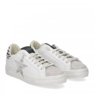 Nira Rubens Martini NIST95 sneaker stella minizebrina silver