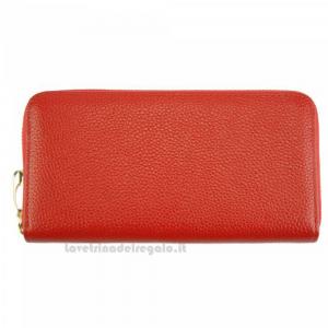 Portafoglio donna Rosso in pelle - Zippy D - Pelletteria Fiorentina