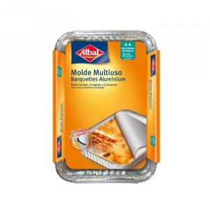 Albal Multipurpose Aluminum Mold With Lid 31x21cm 2 Units