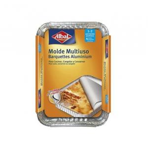 Albal Multipurpose Aluminum Mold With Lid 21x15cm 4 Units
