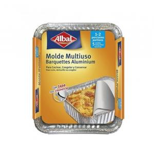 Albal Multipurpose Aluminum Mold With Lid 16x13cm 5 Units