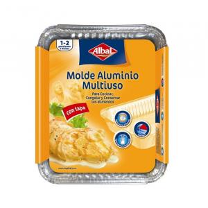 Albal Multipurpose Aluminum Mold With Lid 22x17cm 3 Units