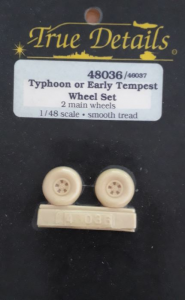 TYPHOON OR EARLY TEMPEST WHEEL SET