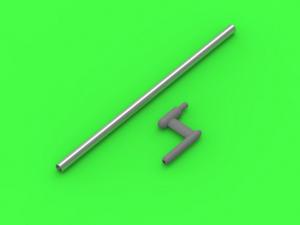 US WWII Pitot Tube L shape type probe