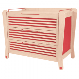 Cassettiera rosso - Albero Bambino